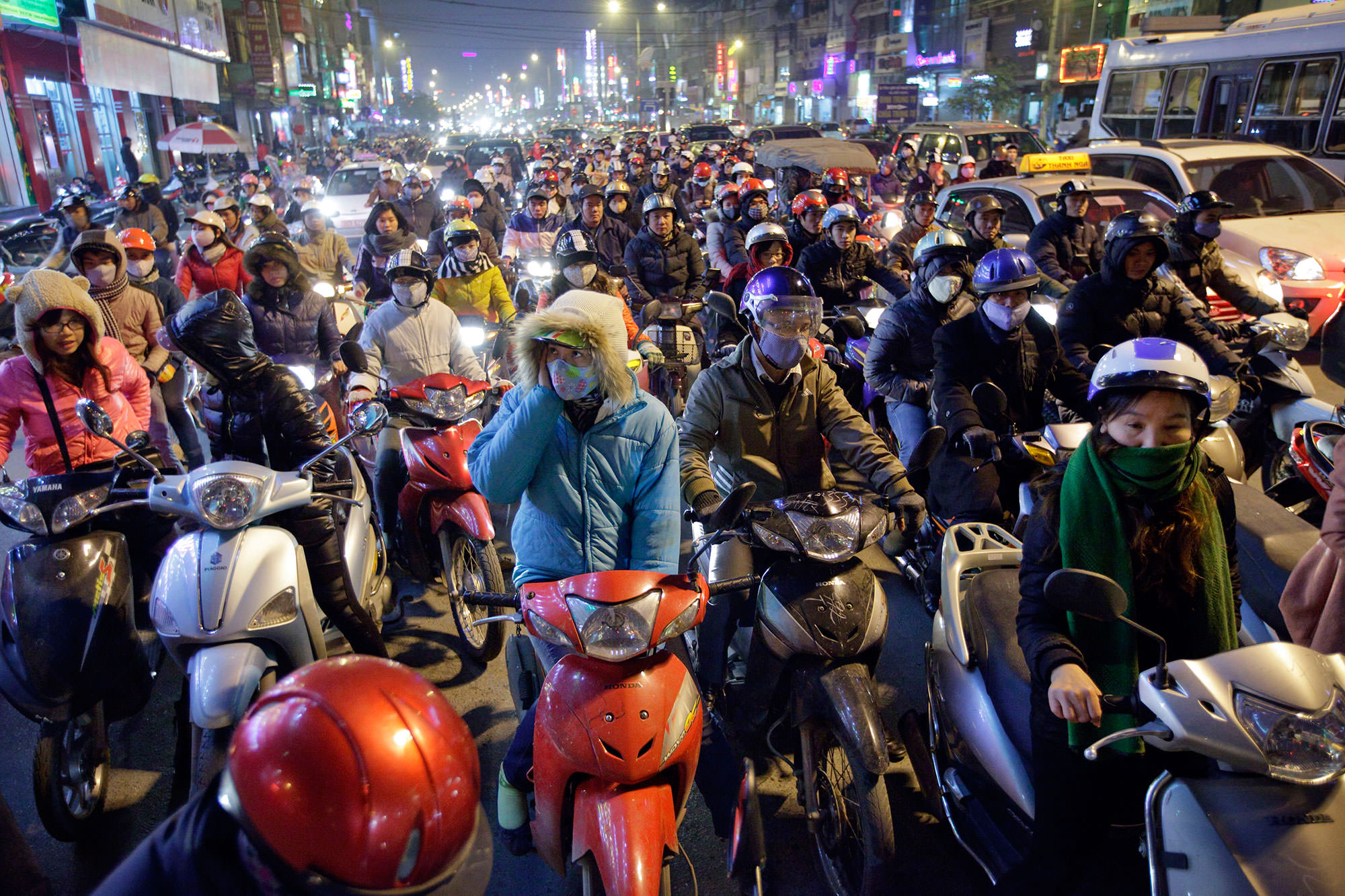 Traffic in Hanoi, Vietnam