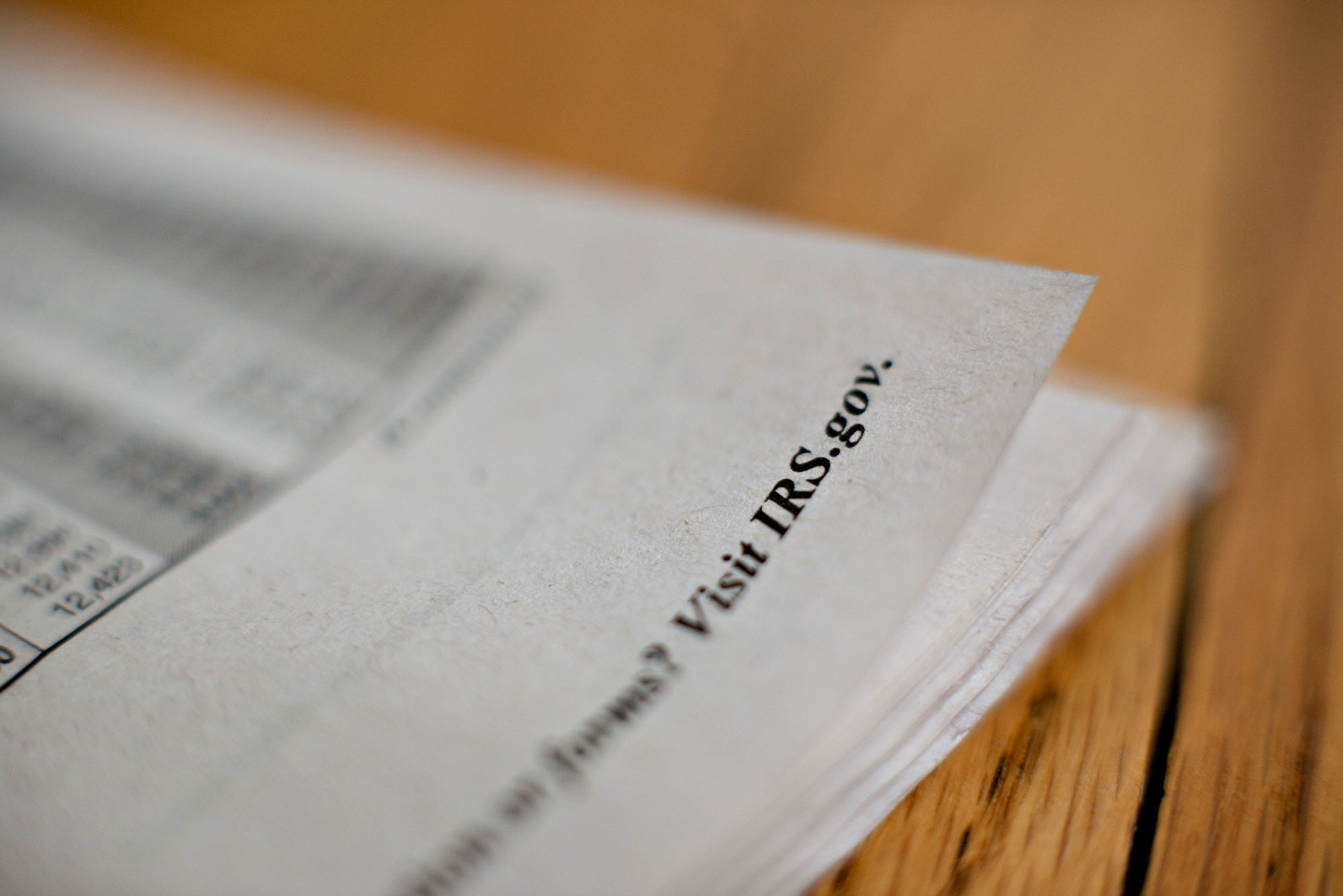 A IRS.gov reference appears in a U.S. Department of the Treasury Internal Revenue Service (IRS) 1040 Individual Income Tax return instruction book as it is displayed for a photograph in Tiskilwa, Illinois, U.S., on Tuesday, Feb. 25, 2014. The deadline for filing individual tax returns in the U.S. is Tuesday, April 15, 2014. Photographer:  Daniel Acker/Bloomberg