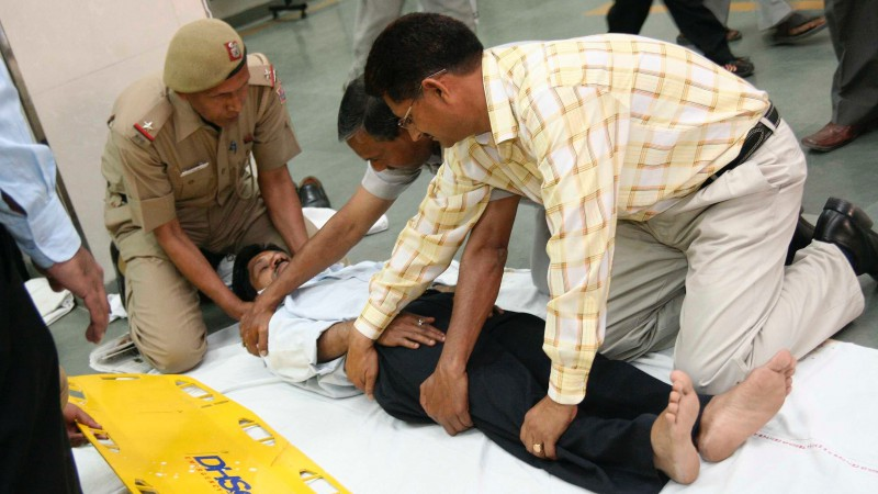 Civilians and police being trained in bystander response