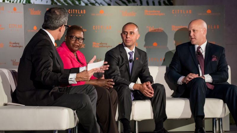 HOW CAN CITIES BECOME MORE ECONOMICALLY INCLUSIVE? RICHARD FLORIDA, A SENIOR EDITOR AT THE ATLANTIC, POSES THAT QUESTION TO MAYORS KAREN FREEMAN-WILSON (GARY, INDIANA), JORGE ELORZA (PROVIDENCE, RHODE ISLAND) AND MITCH LANDRIEU (NEW ORLEANS, LOUISIANA).