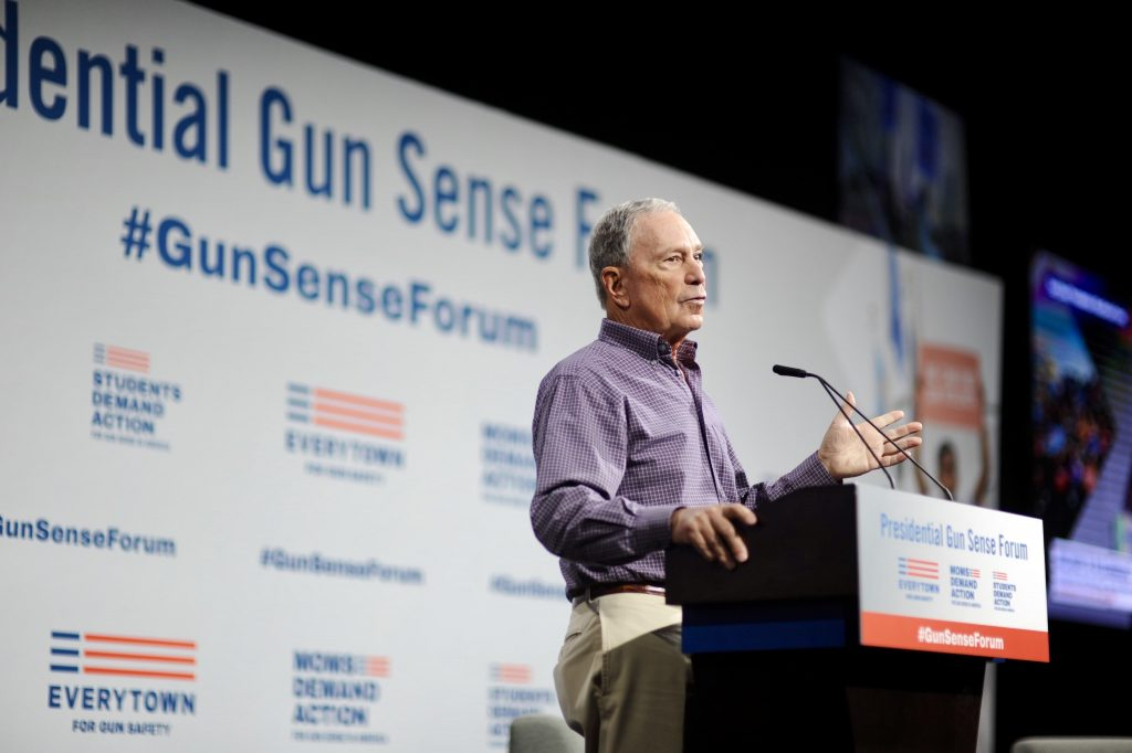 Mike Bloomberg at the Presidential Gun Sense Forum in Iowa.