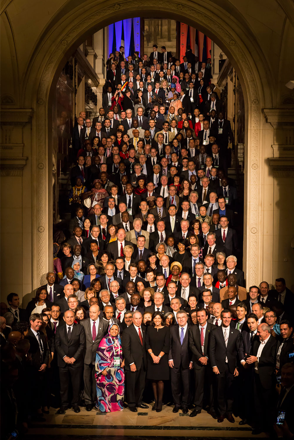 More than 400 mayors from around the world gather in Paris's Hôtel de Ville at the Climate Summit for Local Leaders, part of COP21, on December 4th, 2015