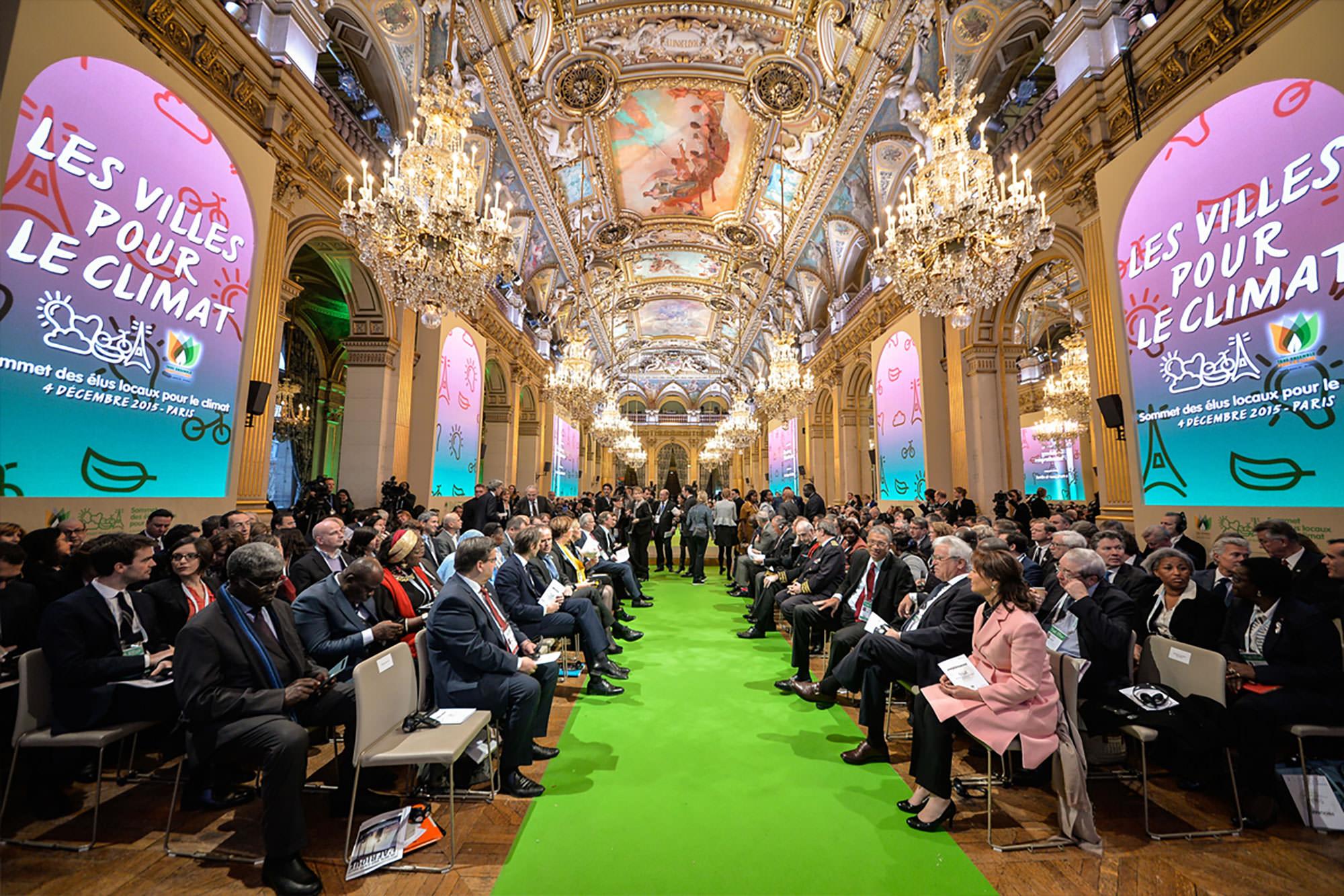 The Climate Summit for Local Leaders, part of COP21, kicks off at Paris's Hôtel de Ville