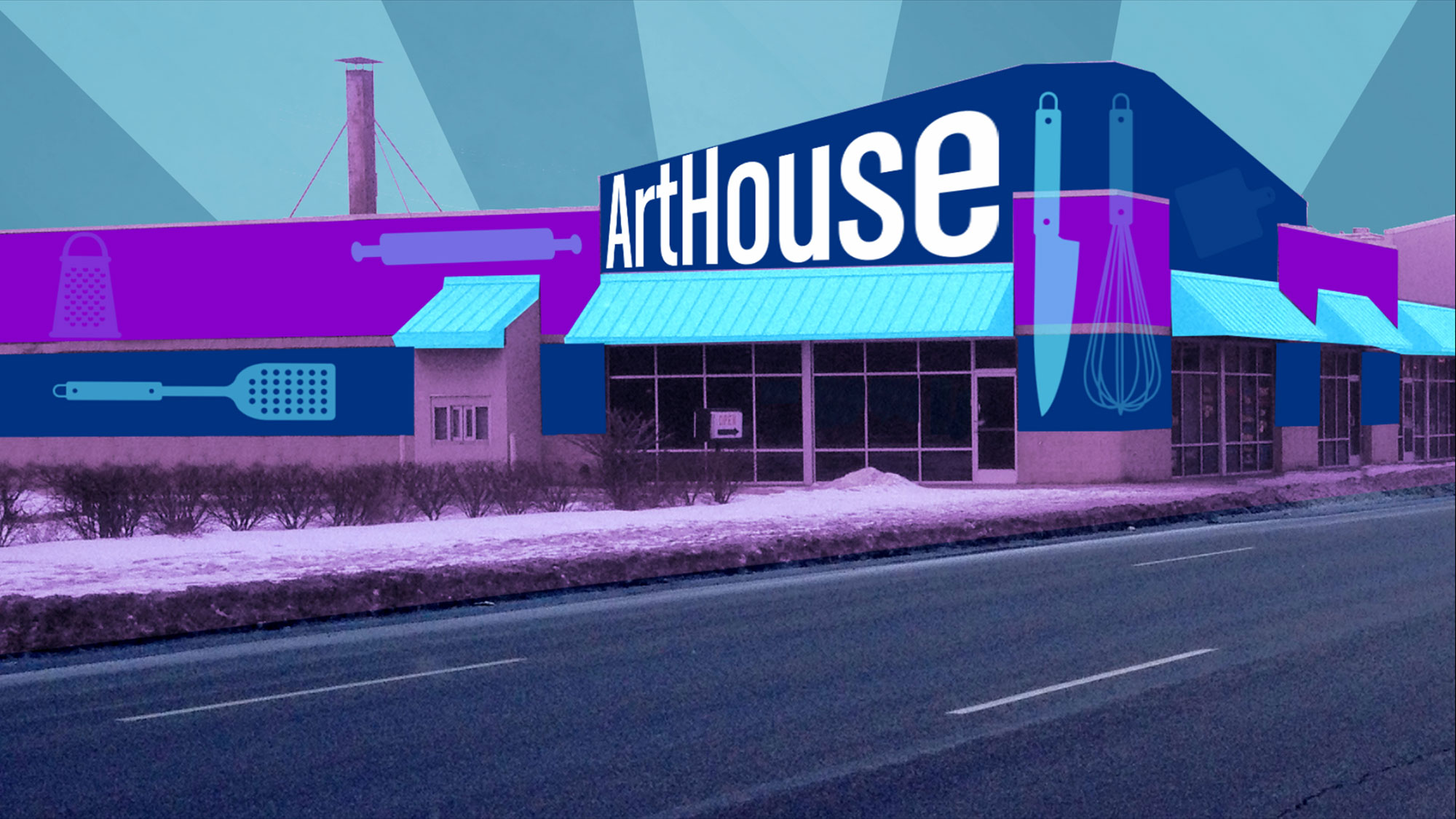 Rendering of 2015 Public Art Challenge winning project, Art House Gary, from Gary, IN