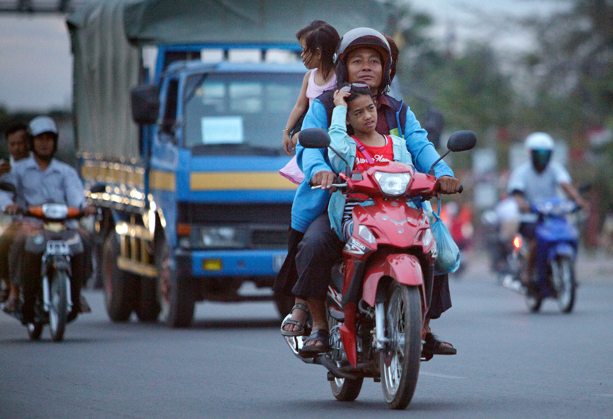 Helmet use is on the rise in Phnom Penh, Cambodia, but large gaps still remain