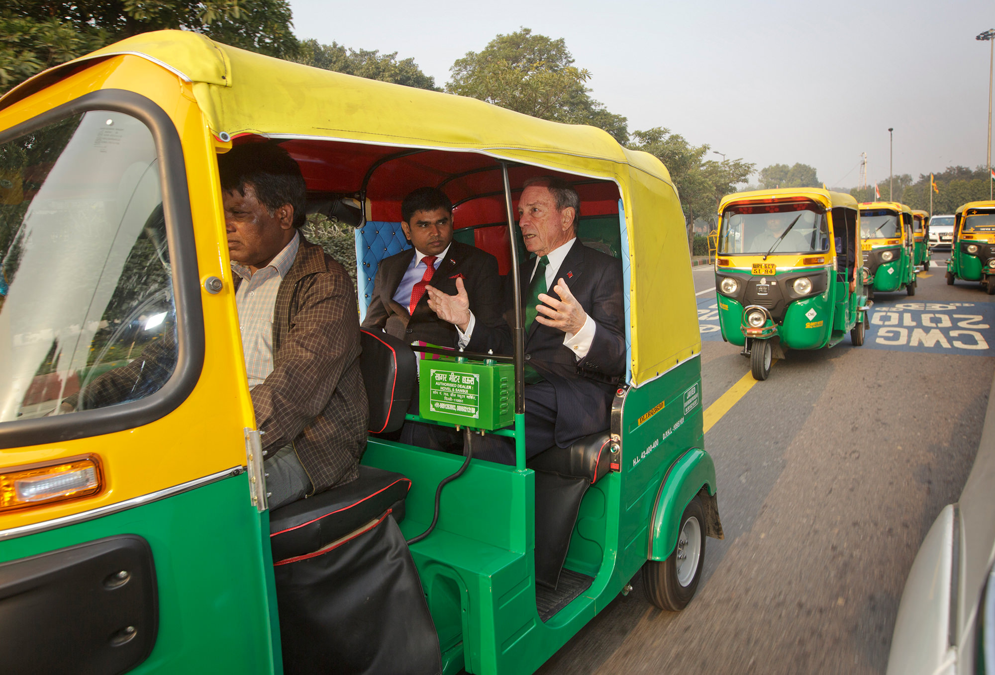 Mike Bloomberg in New Delhi, India to discuss the Smart Cities Challenge
