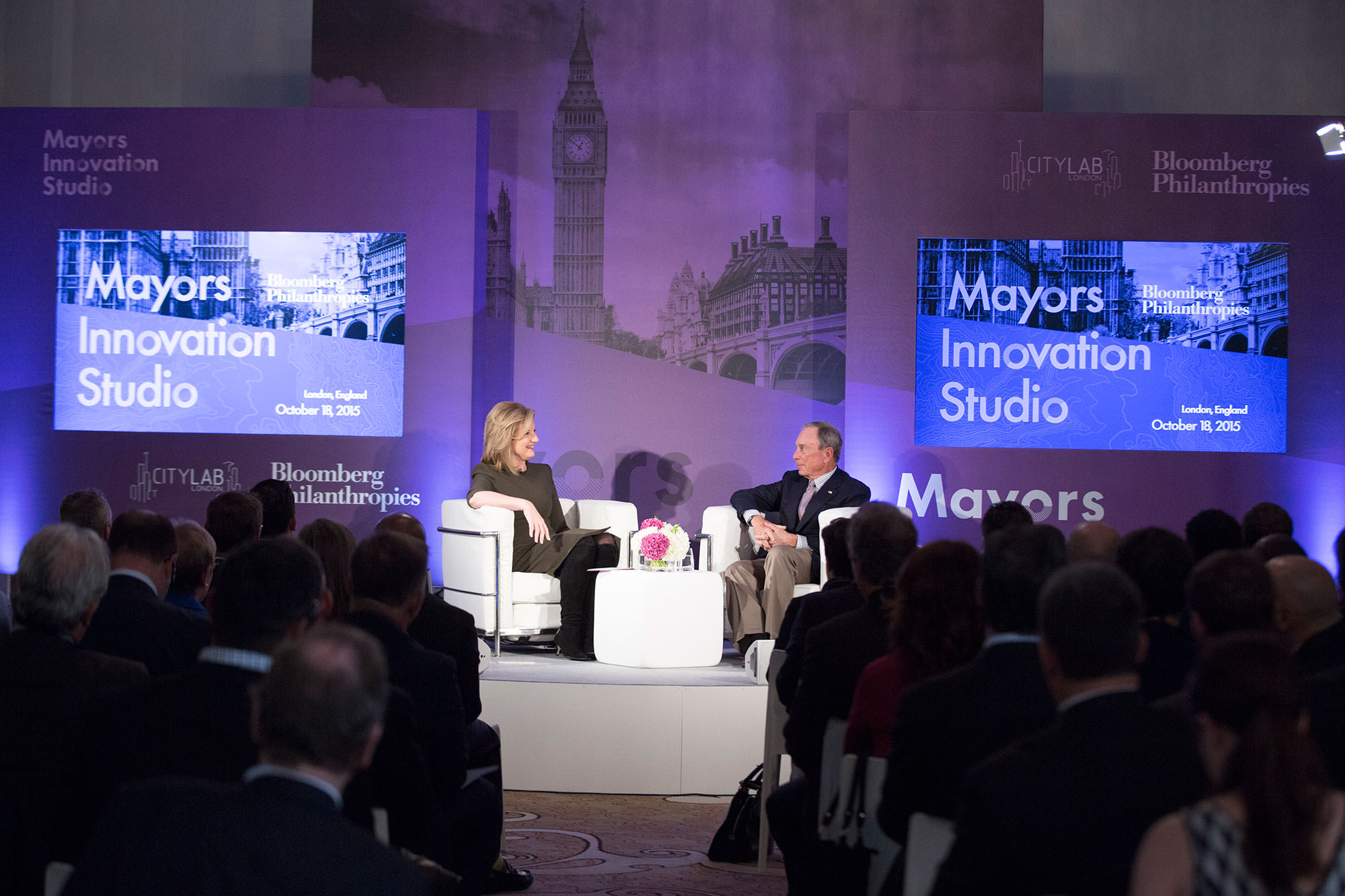 Mike Bloomberg kicks off CityLab in London with Arianna Huffington