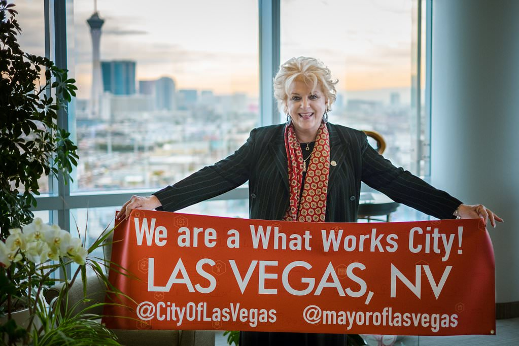 Mayor Carolyn Goodman of Las Vegas, Nevada, a What Works Cities participant