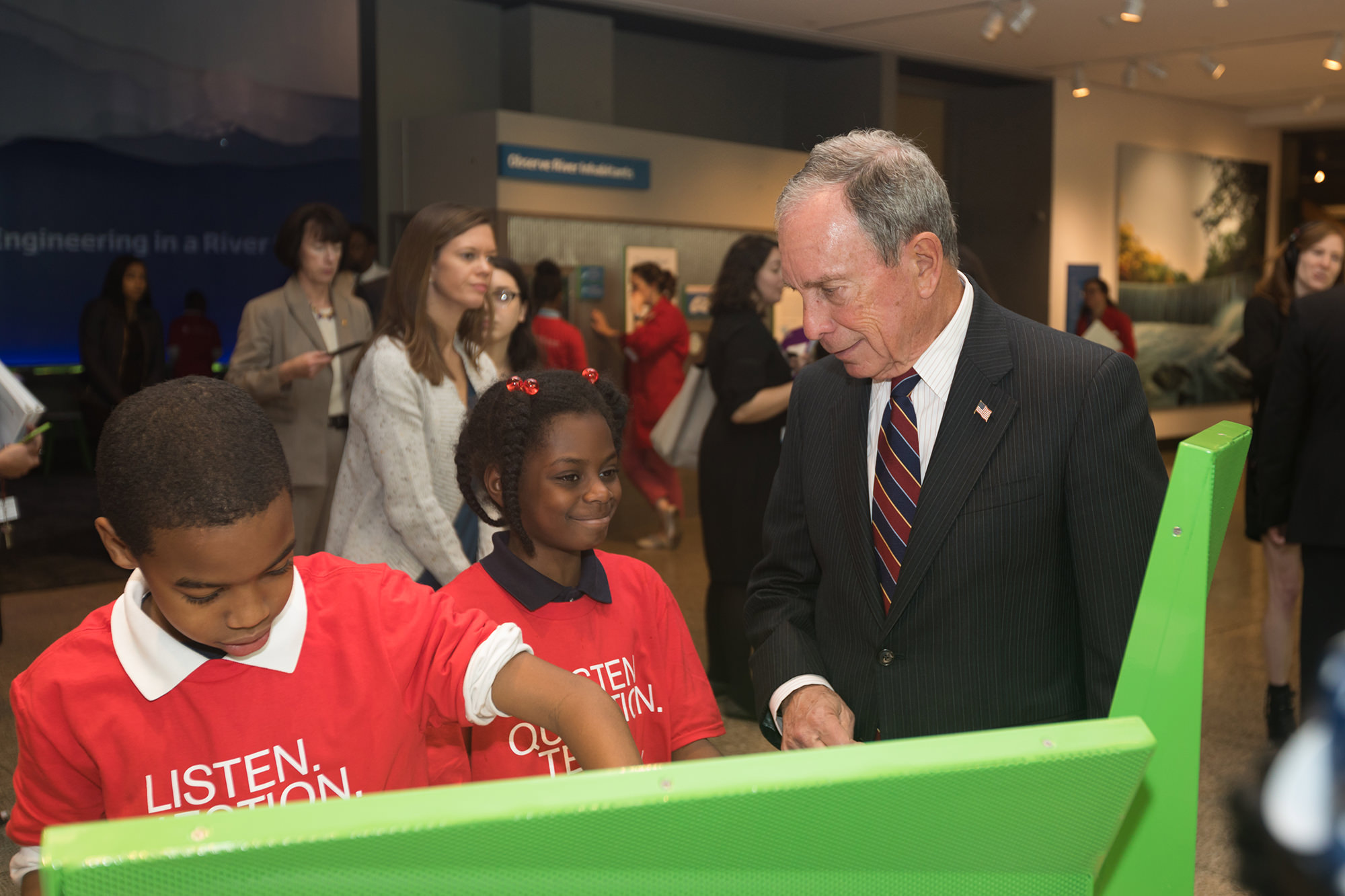 Mike Bloomberg at the Museum of Science, Boston.