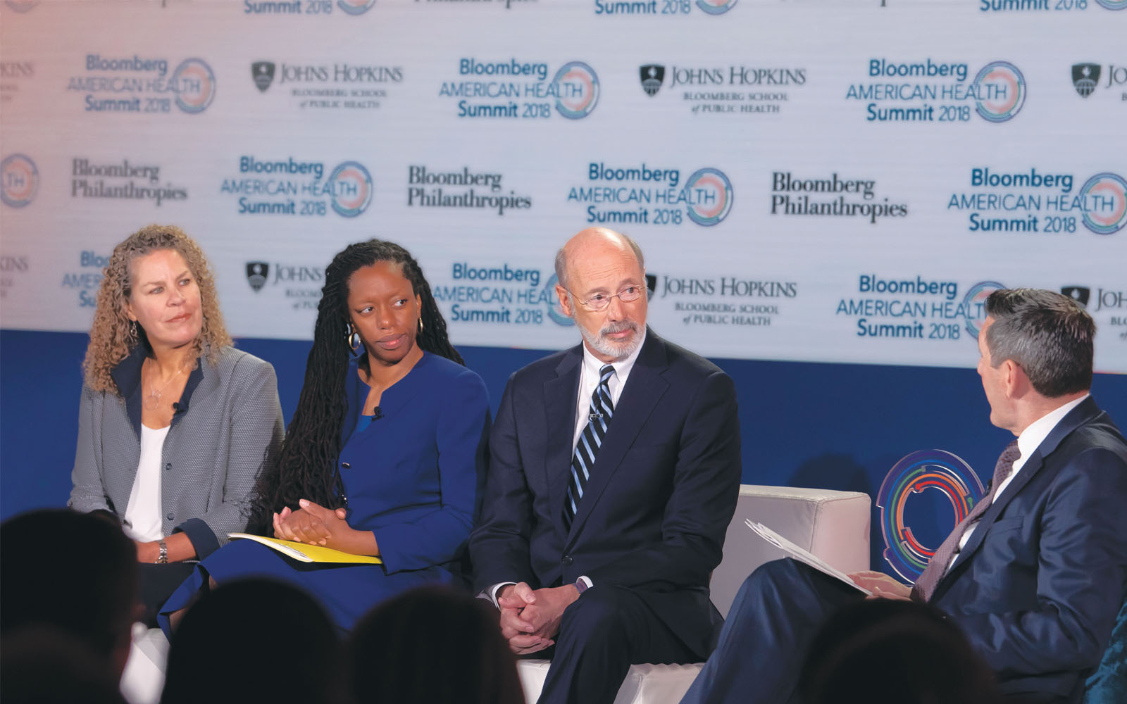 panel discussion on opioid addiction with Pennsylvania Governor Tom Wolf