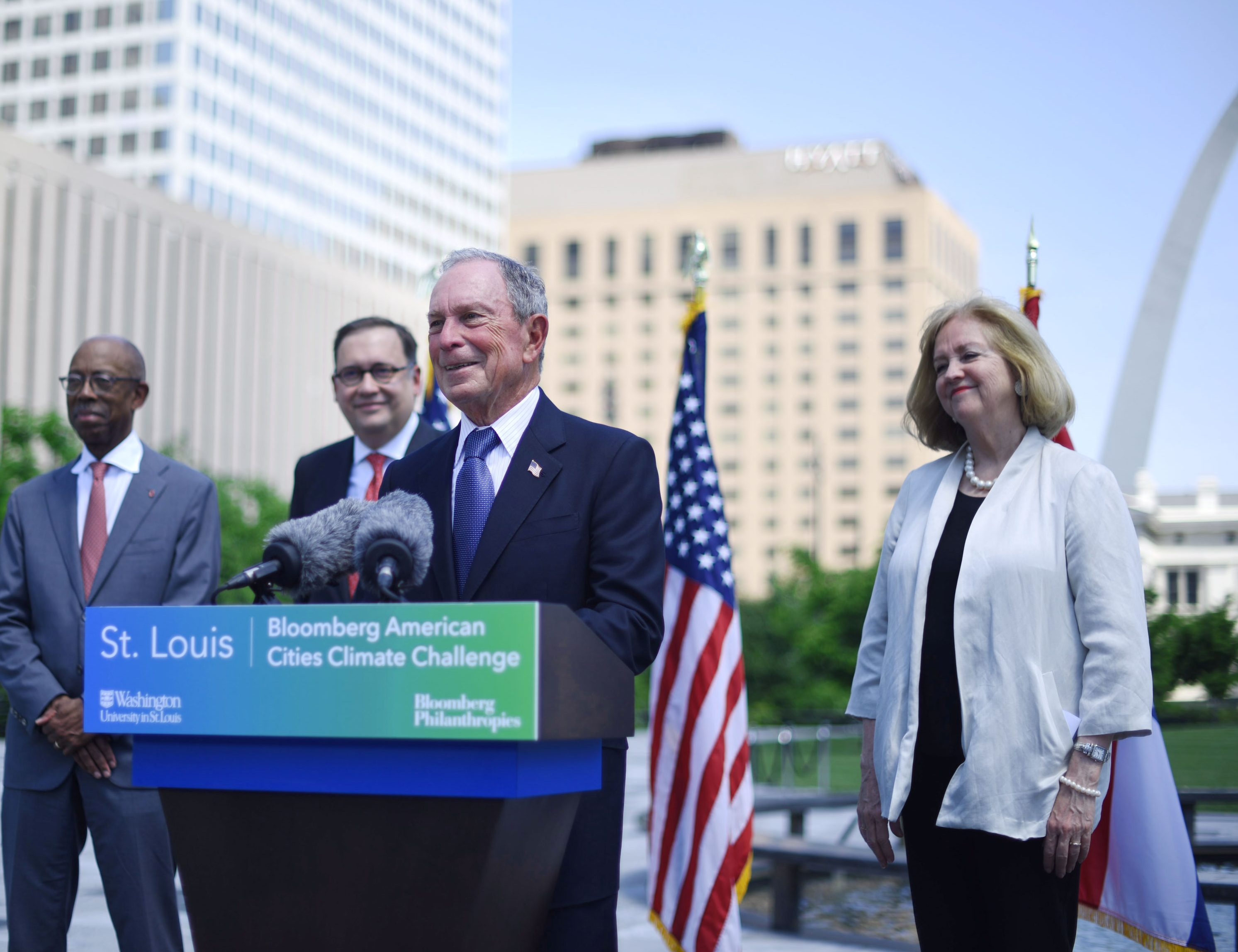 Mike Bloomberg announces St. Louis as a winner of the Bloomberg American Cities Climate Challenge