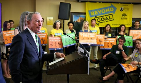 Bloomberg Philanthropies doubles down with a $64 million investment to continue Sierra Club's Beyond Coal campaign and also support the League of Conservation Voters state affiliates and state advocacy coalitions working for clean energy policy in more than a dozen states.