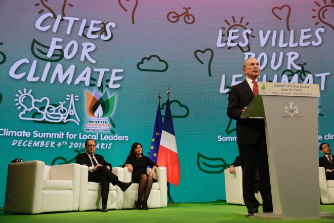 Bloomberg speaks at the Climate Summit for Local Leaders