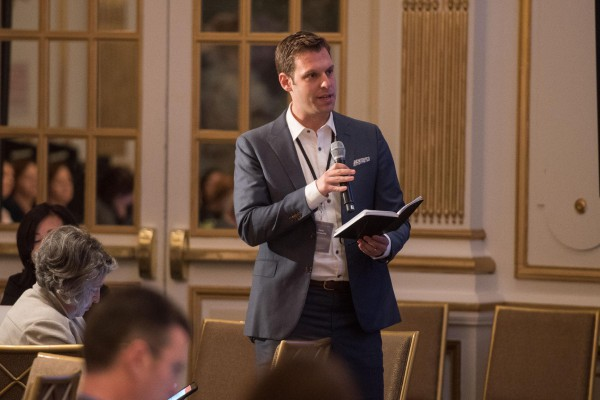 Zachary Markovits, Director of City Programs, speaks at the inaugural WWC Summit: Transforming Data into Action.