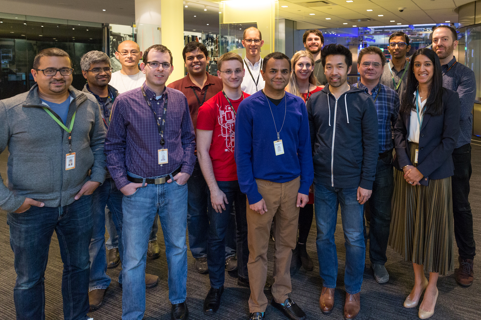 Bloomberg's Consumer Mobile Engineering team photographed at Bloomberg Global Headquarters in New York on December 13, 2016. Photographer: Lori Hoffman/Bloomberg.
