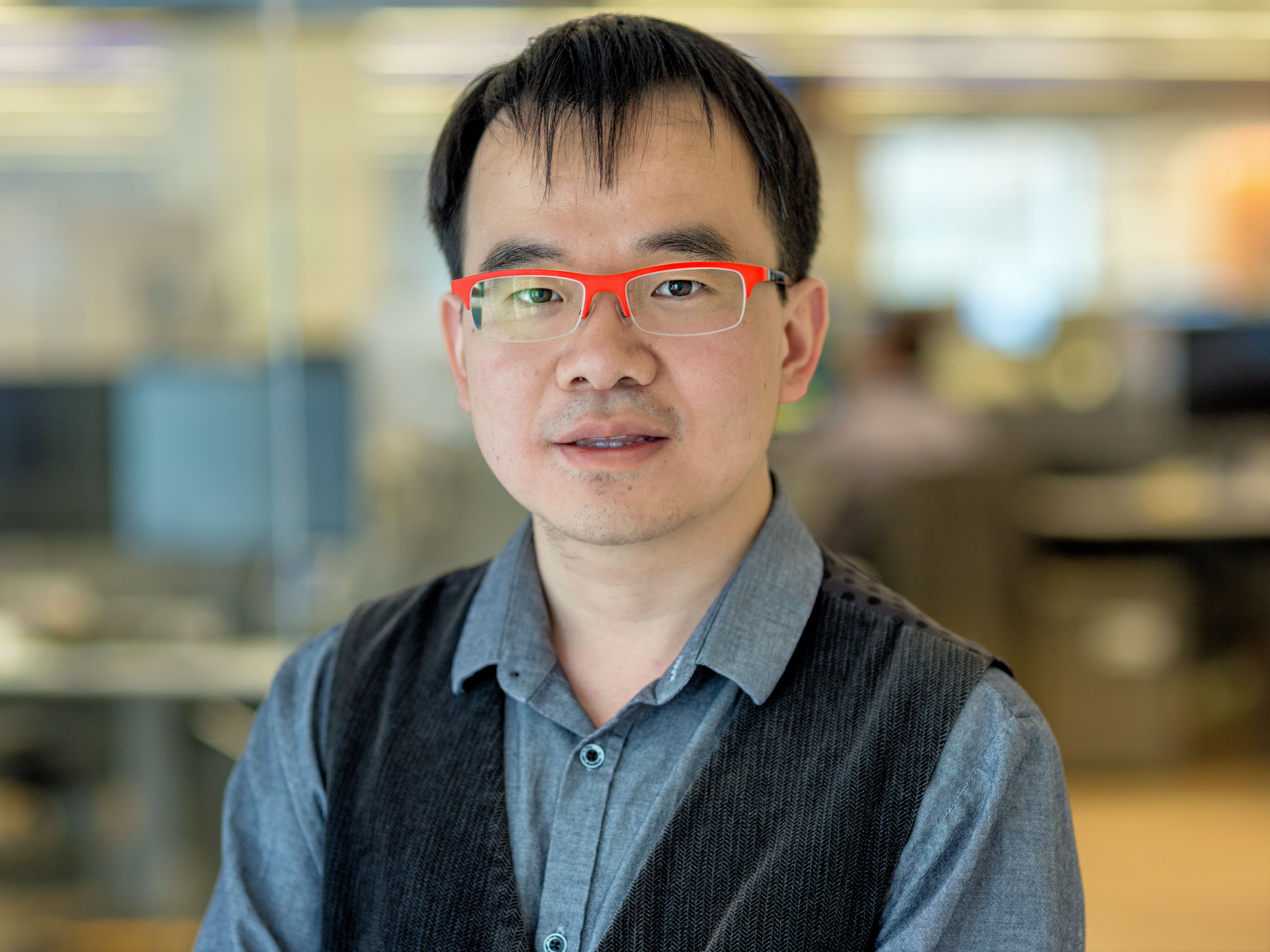 Bloomberg Engineer Hangbo Zhang photographed in New York at Bloomberg on May 15, 2017. Photographer: Lori Hoffman/Bloomberg