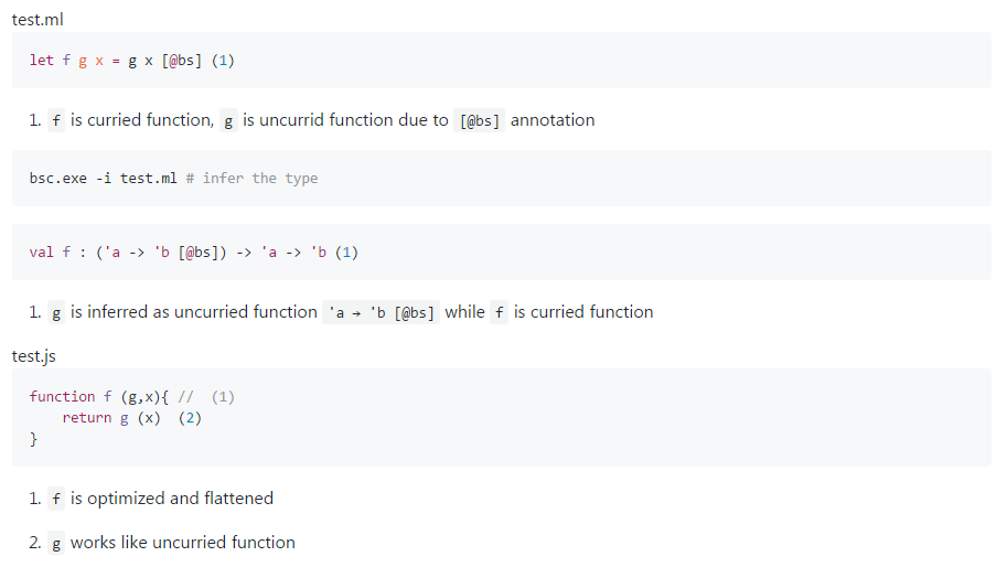 All toolchains provided by BuckleScript can understand the uncurried calling convention.