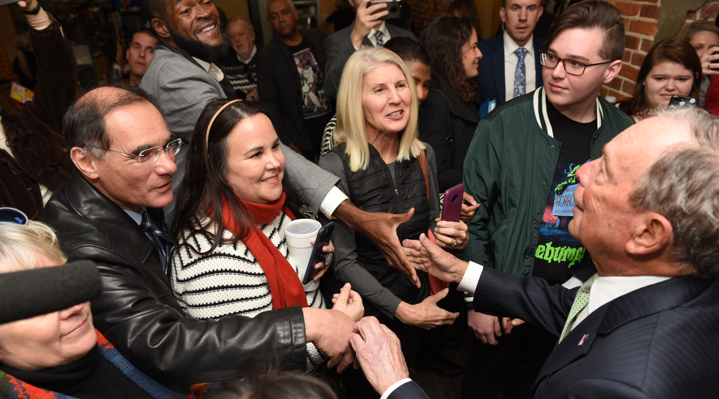 Mike Bloomberg meets with voters in Norfolk, Virginia