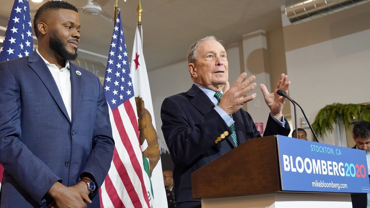 Mayor Tubbs of Stockton, CA Endorses Mike Bloomberg for 2020