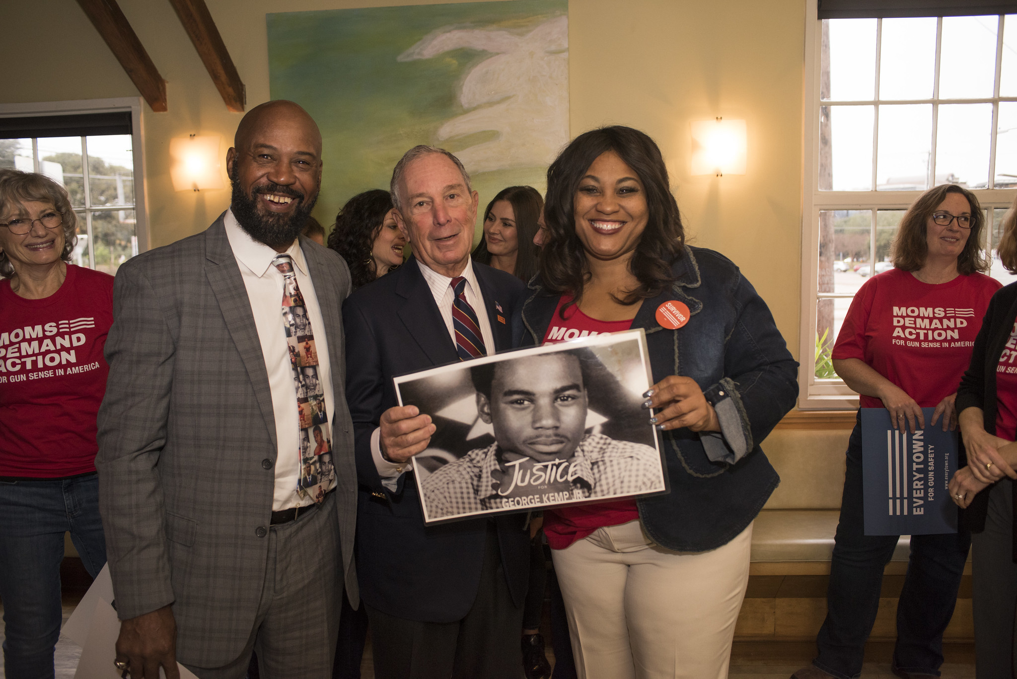 Mike Bloomberg visits Austin to attend a Moms Demand Action event, January 11th, 2019.