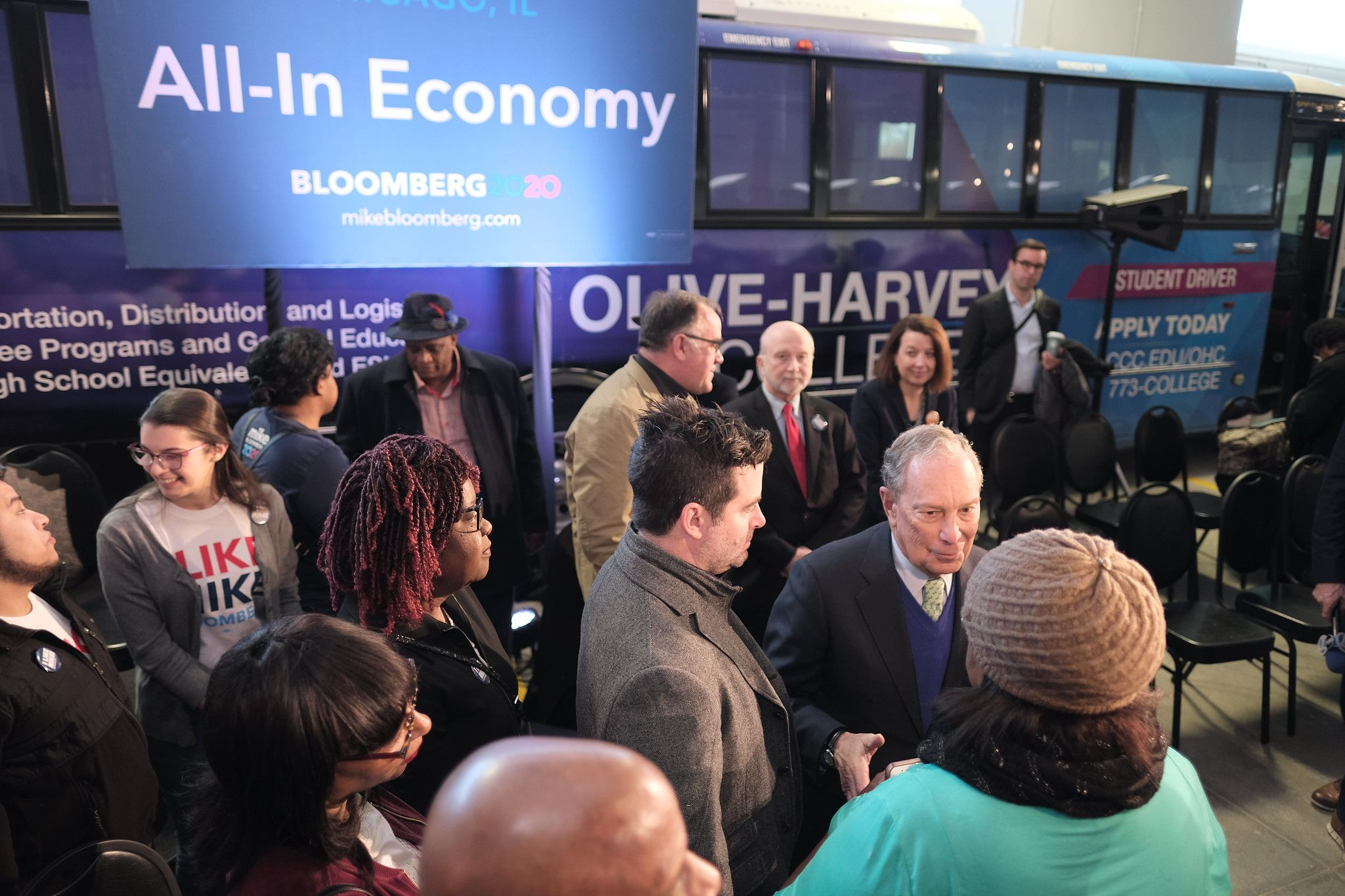Mike unveils his All-In Economy initiative in Chicago, Illinois on January 8, 2020.