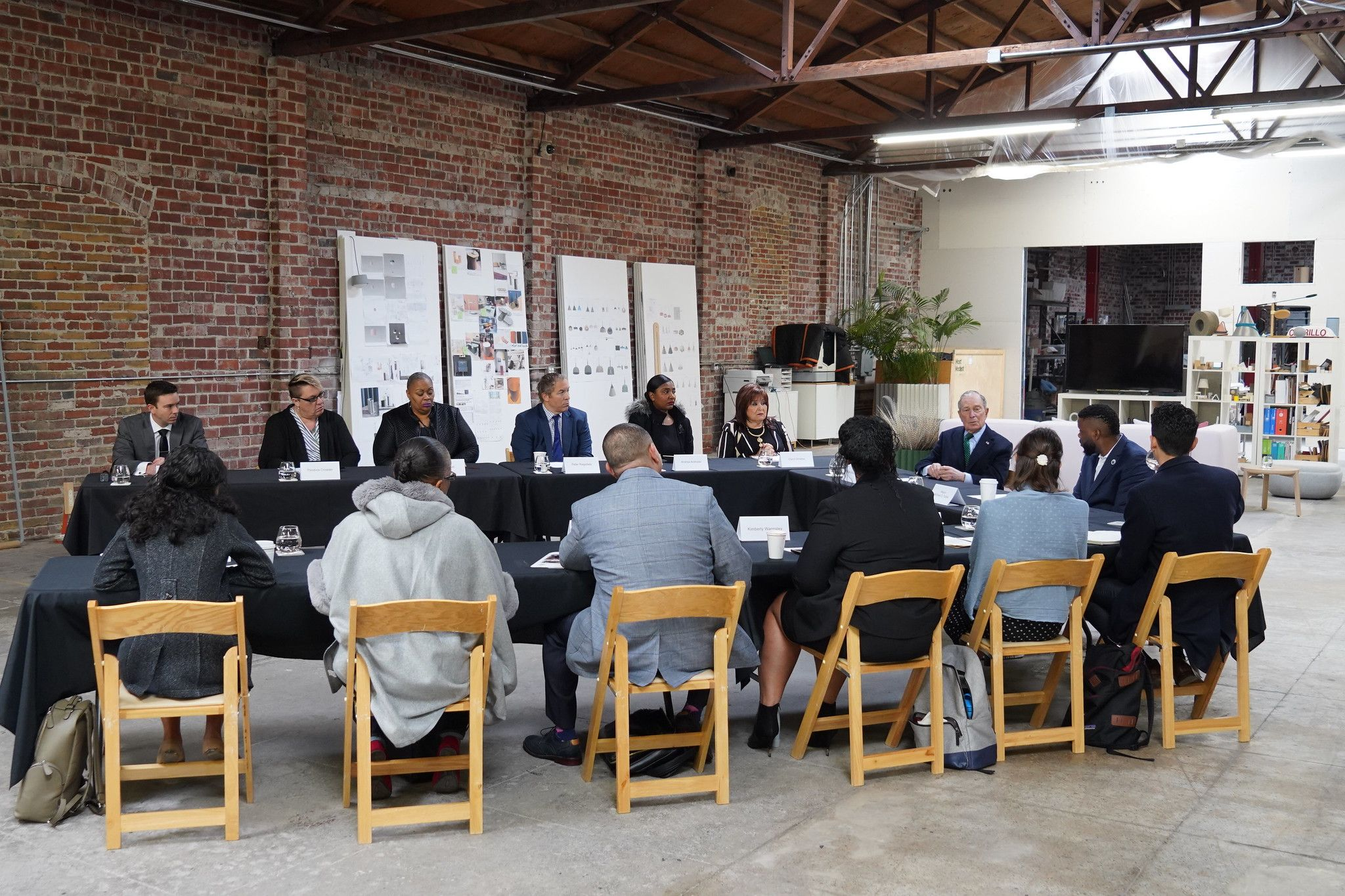 Mike Bloomberg travels to Stockton, California to meet with Stockton Mayor Michael Tubbs and unveils proposals focused on affordability and economic opportunity for all Americans on December 11, 2019.