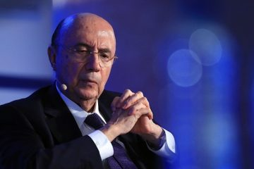 Henrique Meirelles, Brazil's finance minister, looks on during the Institute of International Finance G-20 Conference in Frankfurt, Germany, on Thursday, March 16, 2017. Some of the top financial services companies, including BlackRock Inc. and UBS Group AG, warned against rolling back financial regulation at this time, saying it could be risky and distort international competition. Photographer: Krisztian Bocsi/Bloomberg
