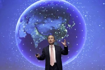 Billionaire Masayoshi Son, chairman and chief executive officer of SoftBank Group Corp., gestures as he speaks during a news conference in Tokyo, Japan, on Wednesday, Feb. 8, 2017.  Photographer: Kiyoshi Ota/Bloomberg